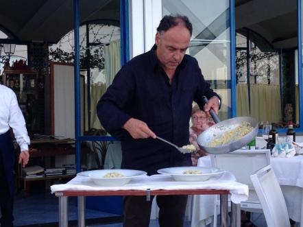 Serving the primi piatti